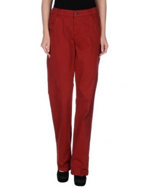 Повседневные брюки XANDRES. Цвет: кирпично-красный