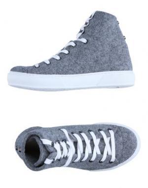 Высокие кеды и кроссовки JUDARI. Цвет: серый