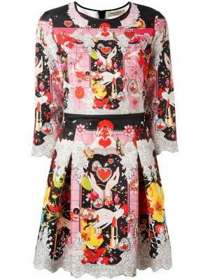 Платье с цветочным рисунком Piccione.Piccione. Цвет: многоцветный