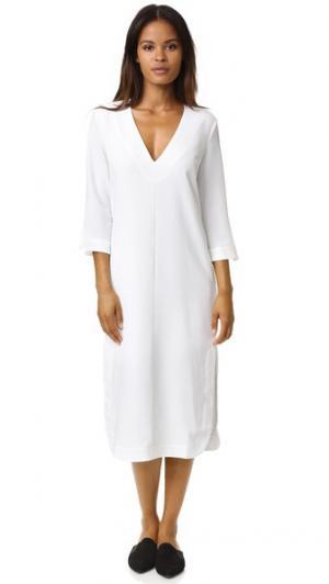 Прямое платье Gaby Designers Remix. Цвет: белый