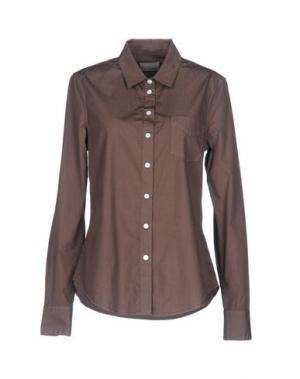 Pубашка BAND OF OUTSIDERS. Цвет: темно-коричневый