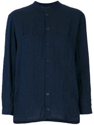 Рубашка с воротником-стойка Toogood. Цвет: синий