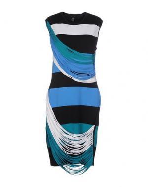 Платье до колена OHNE TITEL. Цвет: черный