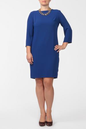 Платье с колье NOVEMBER. Цвет: синий