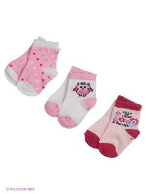 Носки для новорожденных PERA MAYA. Цвет: розовый, кремовый, белый