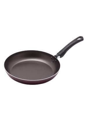 Сковорода с антипригарным покрытием Домашний, 26 см MOULINvilla. Цвет: бордовый