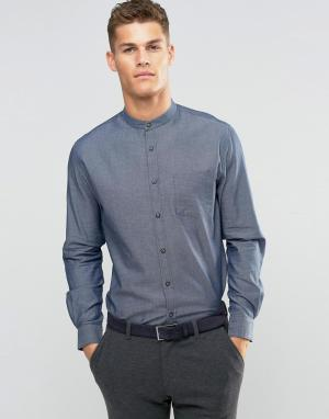 Silver Eight Рубашка узкого кроя с воротником на пуговице. Цвет: серый