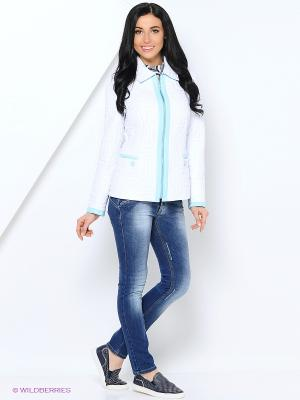 Куртка Lanicka. Цвет: белый, голубой