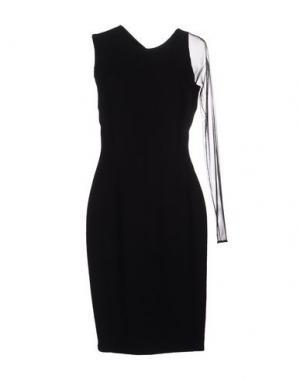 Платье до колена GAI MATTIOLO. Цвет: черный