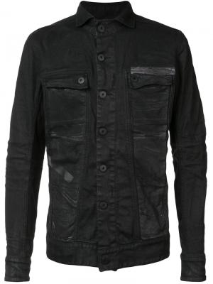 Джинсовая куртка 11 By Boris Bidjan Saberi. Цвет: чёрный