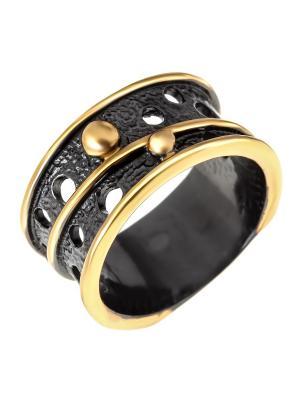 Кольцо Балтийское золото. Цвет: черный, желтый