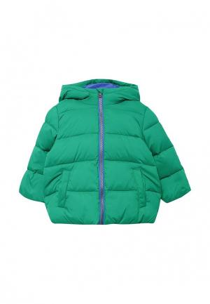 Пуховик United Colors of Benetton. Цвет: зеленый