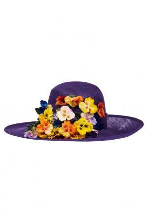 Плетеная шляпа Philip Treacy. Цвет: фиолетовый