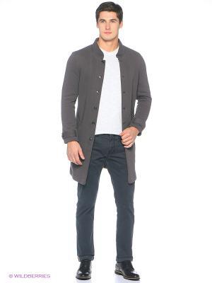 Пальто трикотажное Пряник. Цвет: серый