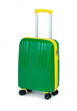 Чемодан Baudet. Цвет: зеленый