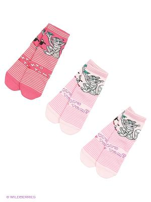 Носки - 3 пары Гамма. Цвет: розовый, коралловый