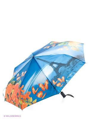 Зонт Flioraj. Цвет: синий, оранжевый