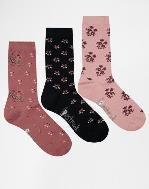 Lovestruck Подарочный набор из 3 пар носков. Цвет: pink multi