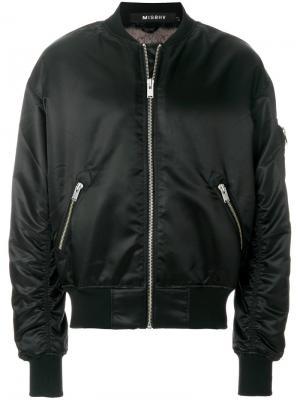 Куртка-бомбер  с принтом Euphoria Misbhv. Цвет: чёрный