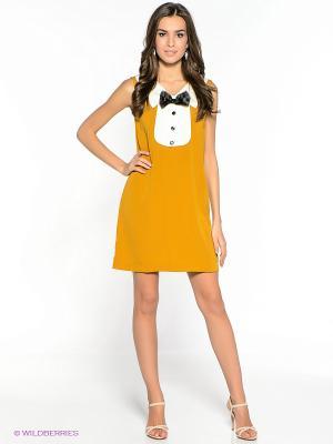 Платье Compania Fantastica. Цвет: горчичный
