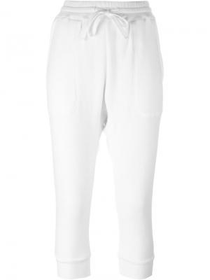 Укороченные спортивные брюки Nlst. Цвет: белый