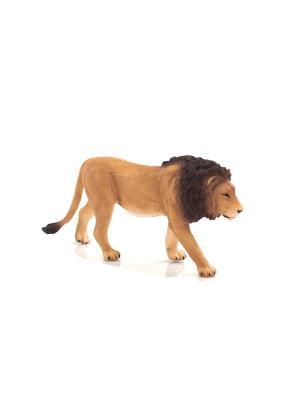 Фигурка Mojo (Animal Planet)-Лев (L). Цвет: темно-коричневый,светло-коричневый,темно-бежевый