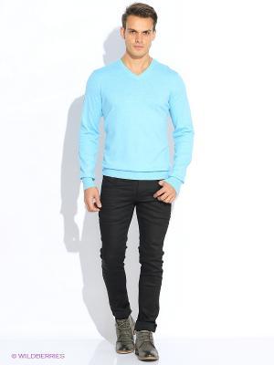 Пуловер Oodji. Цвет: светло-голубой