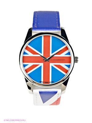 Часы Mitya Veselkov. Цвет: синий, красный, белый