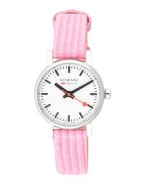 Наручные часы MONDAINE. Цвет: розовый