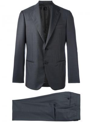 Приталенный костюм Caruso. Цвет: серый