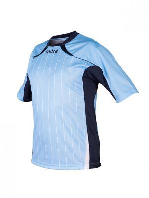 Футболка игровая MITRE Modena Юниорская. Цвет: голубой, белый, темно-синий