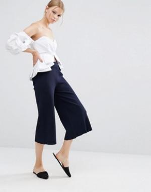 Style Mafia Темно-синяя юбка‑шорты. Цвет: синий