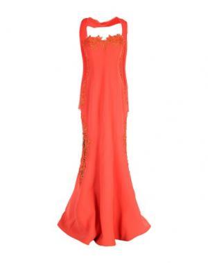 Длинное платье MUSANI COUTURE. Цвет: оранжевый