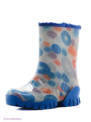 Сапоги резиновые Зебра. Цвет: голубой