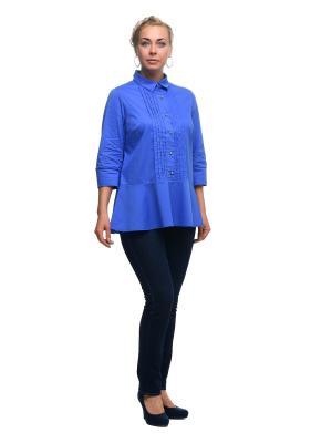 Блузка OLSI. Цвет: синий