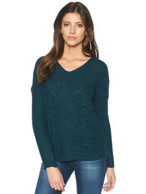Пуловер TOM TAILOR. Цвет: морская волна