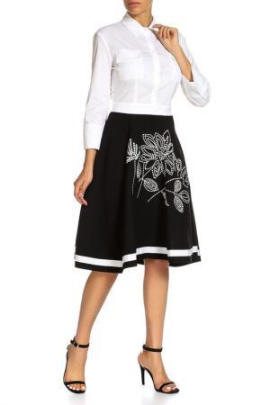 Платье Beatrice. B. Цвет: бело-черный вышивка