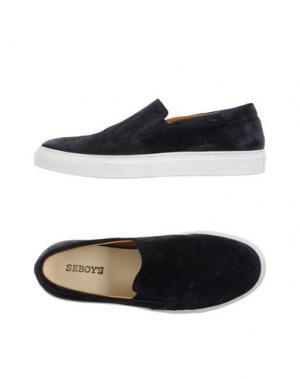 Низкие кеды и кроссовки SEBOY'S. Цвет: темно-синий