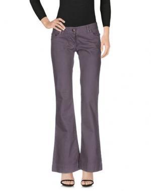 Джинсовые брюки DANIELE ALESSANDRINI. Цвет: фиолетовый