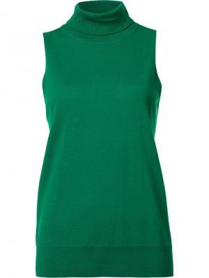Блузка с высокой горловиной Trina Turk. Цвет: зелёный