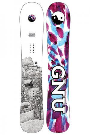 Сноуборд  Mullair C3 GNU. Цвет: белый