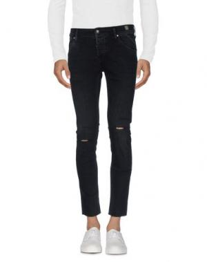 Джинсовые брюки 0/ZERO CONSTRUCTION. Цвет: черный