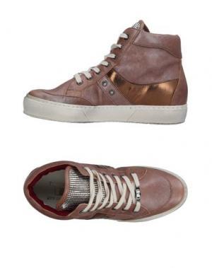 Высокие кеды и кроссовки D'ACQUASPARTA. Цвет: светло-коричневый