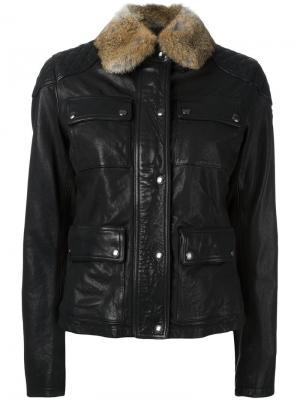 Куртка Attebury с четырьмя карманами Belstaff. Цвет: чёрный