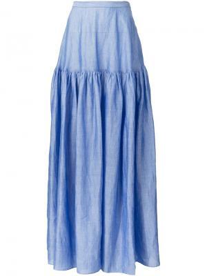 Пышная юбка макси Co. Цвет: синий