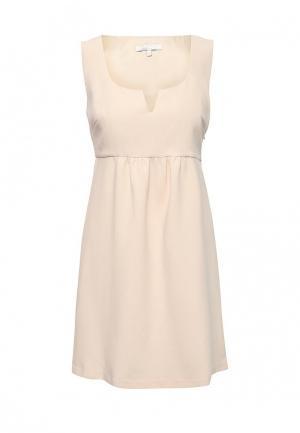 Платье NewLily. Цвет: бежевый
