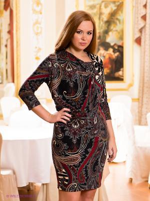 Платье МадаМ Т. Цвет: черный, бежевый, красный