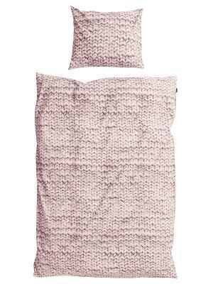 Комплект постельного белья Косичка розовый 150х200см SNURK. Цвет: розовый