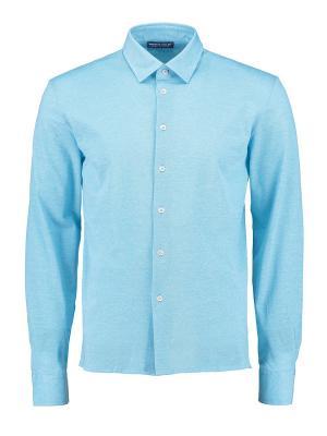 Рубашка Umberto Vallati. Цвет: голубой