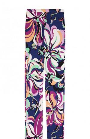 Расклешенные брюки с принтом Emilio Pucci. Цвет: разноцветный